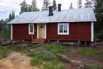 Fischerhütte direkt am Laisälven