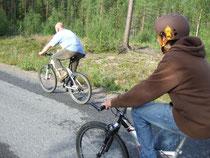 Bernd und Jan auf dem Rückweg vom Nalovardo
