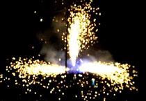 Feuerwerks-Springbrunnen