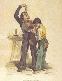 I mangia maccheroni, litografia del 1890