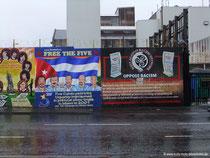 Wandmalerei in West-Belfast