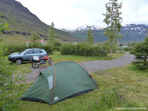 Campingplatz in Seyðisfjörður