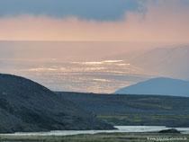 Gletscher Hofsjökull im Abendlicht