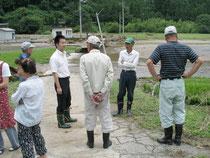 06年豪雨災害ではすぐに被災地へ(佐田町)