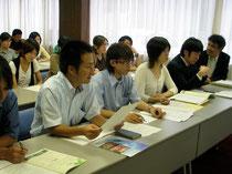 08年8月、雇用問題などで青年とともに申し入れ