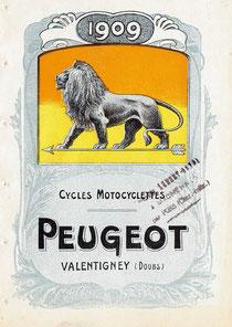 Deckblatt des Peugeot-Katalogs von 1909