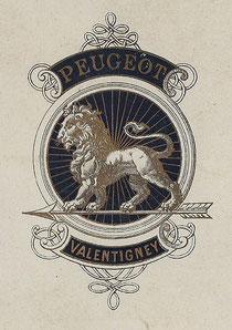 Peugeot-Firmenzeichen für Fahrräder, 1898