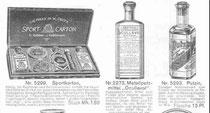 Katalogblatt Stukenbrok von 1912, allerlei Putzmittel für den Velocipedisten