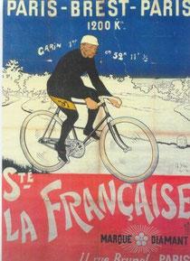 Maurice Garin auf La Francaise Diamant. Werbeplakat von 1901