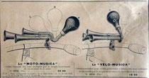 Katalogblatt R. Chaput von 1911, Hupen für Motor- und Fahrräder