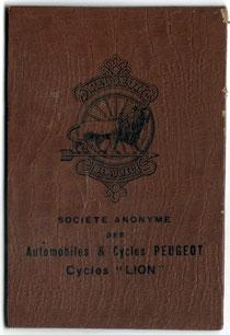 Garantiezertifikat für ein Peugeot-Fahrrad, 1923