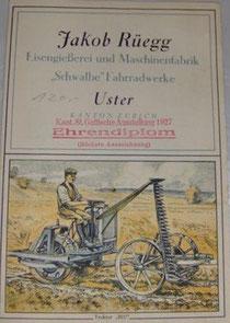 Katalog Rüegg/Uster, Ende 1920er Jahre***