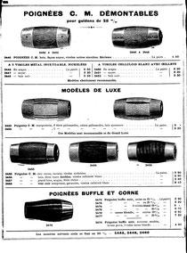 Katalogblatt Brosse & Cie. 1907 mit abnehmbaren Holzgriffen