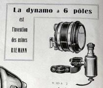 Riemann Sechspol-Lichtanlage aus einem französischen Katalog von 1930