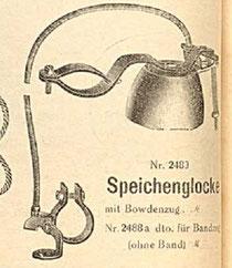Speichenglocke, Katalogblatt von 1926*