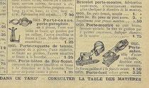 Katalogblatt 1913, diverse Halterungen für Fahrräder