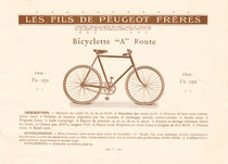 Katalogblatt Peugeot 1906, Modell 'A Route'