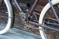 1920er Kinderfahrrad, aufwändige Bremsanlage