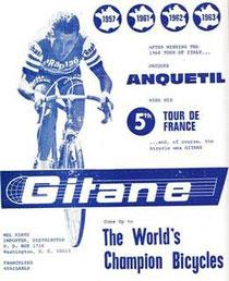Werbung der Firma Gitane um 1963