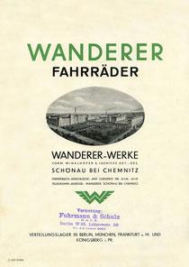 Deckblatt des Wanderer-Katalogs von 1930