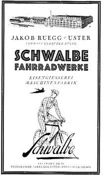 Prospekt der Firma Rüegg/Uster, 1930er Jahre