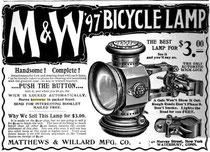 Matthews & Willard, Anzeige um 1898