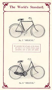 Katalogblatt für das Modell 7 und 8, England 1910