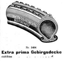 Katalogblatt Wedler 1928, Hutchinson Gebirgsreifen