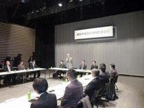 研究者や市内企業を交えた復興の議論が始まった(24日、浦安市民プラザWave101)