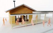 伊東設計「みんなの家」の模型=伊東事務所提供