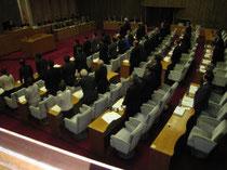県内の原発全ての廃炉を求める請願を採択した福島県議会=20日