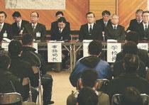 大川小の保護者らに対して行われた3回目の説明会