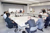 【写真】 仙石線や野蒜駅の復興方針を調整した会議