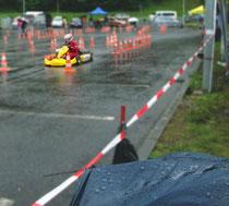 Marcel Böhland beim Regen-und Chaosrennen in Eisenach.