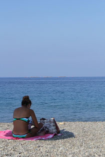 Bikini, Stand, Meer, Italien