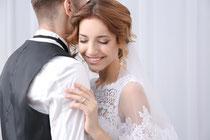 Hochzeit Make-up und Brautfrisur