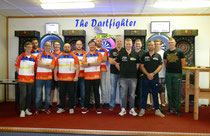 8 der 9 Dartfighter simulierten den Liga Rhythmus.