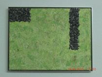 Regenwald, Acylbild 30 x 40 cm mit ALU-Rahmen