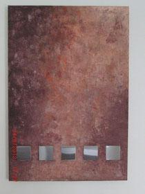 Quadrat im Feuer; 70 x 100 cm