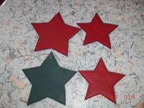 Sterne aus echtem Leder