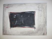Schwarzes Quadrat, Acrylbild, ca. 50 x 70 cm