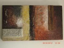 Die Mauer, Acrylbild 120 x 70 cm