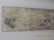Wüstensturm, Acrylbild ca. 120 x 40 cm,