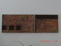 Abseits, Acylbild ca. 120 cm x 40 cm