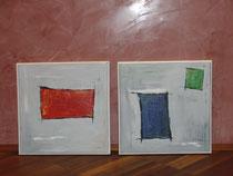 Nr. 2 , zwei Acrylbilder, jeweils ca. 30 x 30 cm