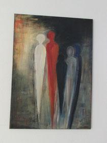 Die Familie, Acrylbild, ca. 50 x 70 cm