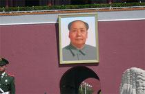 Politisierte Kunst in China. Mao-Bild