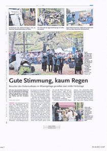 HAZ Leinenachrichten 28.10.13
