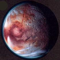 冥王星、うーむ寒そう 出典:http://blogs.yahoo.co.jp/tobirawohirakugendouryoku/16328264.html