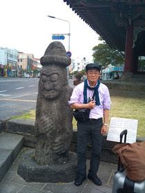 はい、おちゃらけてます@済州市内観光